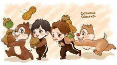 Chip And Dale, Fan Art, Comics, Illustration, Fictional Characters, Cartoons, Animated Cartoons, Cartoon, Illustrations