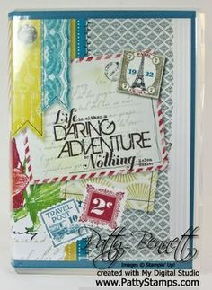 notepad holder for the traveler using My Digital Studio from Stampin Up