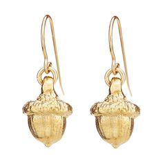 Chupi.com - Chupi All Dreams Start Small Acorn Earrings in Gold