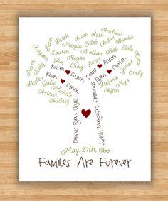 Love it! 8x10 Wall Art Print  Personalized Family Tree  by PembertonPrints, $35.00