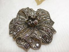 SALE Vintage Rhinestone and silver Brooch SPRING  by JewlsinBloom, $14.95