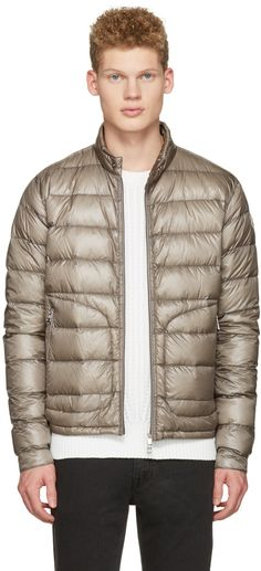 MONCLER Grey Down Acorus Jacket. #moncler #cloth #jacket