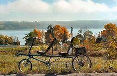 recumbent bike at Keuka Lake