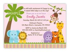 Jungle Safari Wild Animals Baby Shower by CherishedTimes on Etsy, $14.00