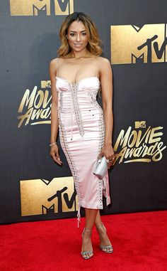 Kat Graham from MTV Movie Awards 2016 Red Carpet Arrivals | E! Online