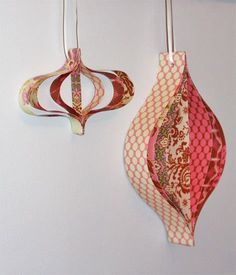 Great old-fashioned paper ornaments...we used to make them when I was a kid in Germany...