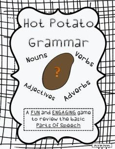 Hot Potato Grammar Freebie: parts of speech game-- on FD Grammar Games, Grammar Practice, Grammar And Punctuation, Grammar Activities, Teaching Grammar, Teaching Language Arts, Grammar Lessons, Teaching Writing, Speech And Language