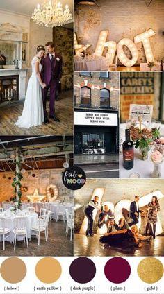 1920s Wedding Theme { Gold and Plum wedding colours } fabmood.com #wedding #1920s #weddingtheme #weddingcolor #vintagewedding #plum #plumwedding #engaged #bride