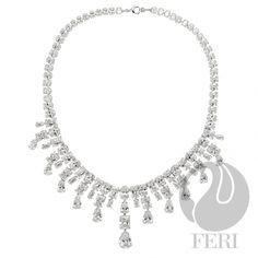 Global Wealth Trade Corporation - FERI Designer Lines Beautiful Necklaces, Stone, Diamond, Wealth, Silver, Princess, Jewelry, Design, Rock