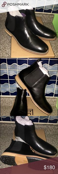 Chelsea boots 100 authentic pure leather👌🏾. Brand new in box it's a London Chelsea classic fashion boots 👌🏾. jack&thread Shoes Lace Up Boots
