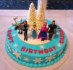 This is the cake LJ wanted, so I bought the little figures and I am getting the cake done similar.