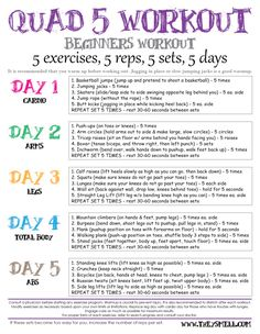 Quad 5 Workout for Beginners