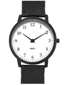 M&Co Bodoni Watch - Black 40mm