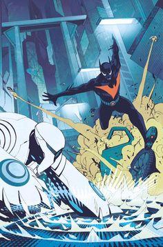 Prévia da capa e páginas de Batman do Futuro publicada pela DC Comics com cores minhas, arte do meu parcêro Bernard Chang e escrita pelo ass kicker Dan Dan Jurgens!