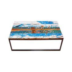 USA Beach Buoy's Reclaimed Wood Coffee Table, Black
