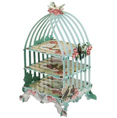 Pastries & Pearls Birdcage Stand