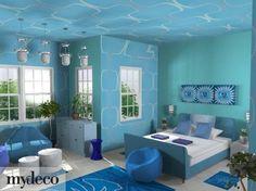 10 fantastiche immagini su Pareti azzurro | Blue walls, Wall ...