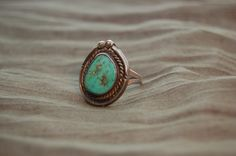 I LOVE this ring!     Vintage Sterling Silver Turquoise Ring by MarilynsVanity on Etsy, $20.00