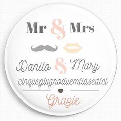 Calamita personalizzata per Segna posto matrimonio  #wedding #grazie #segnaposto #matrimonio #magnet #personalizzabile #idea #bride #sposo #sposa