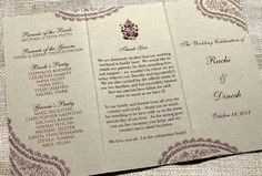 Hindu Wedding Ceremony Program - Blush Paperie