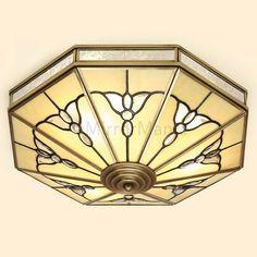Gladstone Art Deco Flush Ceiling Pendant - Tiffany Lighting - Lighting - Home Decor