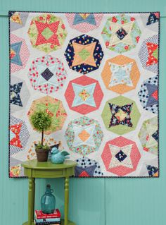 Cosmo Quilt .... Happy Go Lucky Fabric by Bonnie and Camille