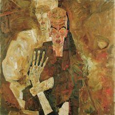 Egon Schiele (Austrian, 1890-1918), Selbstseher II (Tod und Mann), 1911. Oil on canvas, 80,5 × 80 cm