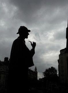 Sherlock Holmes Statue at the Baker Street Station, silhouette Sherlock Holmes, Watson Sherlock, Jim Moriarty, Sherlock John, Martin Freeman, Benedict Cumberbatch, Agatha Christie, Detective, Elementary My Dear Watson
