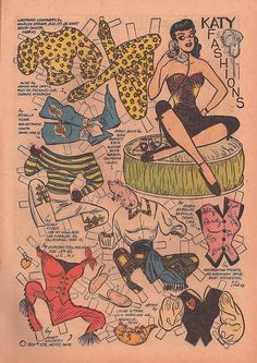 KATY  FASHIONS <><> SEATED  Parade Issue 1, 1955 Artist  Bill Woggon