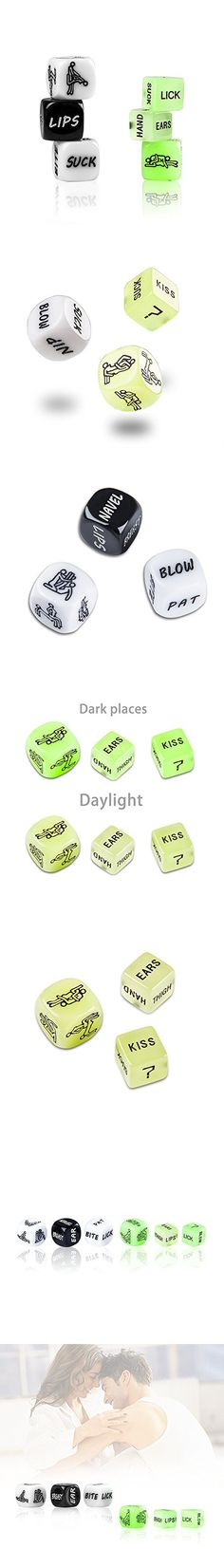 IManson Funny Dice Love Dice Game Toy for Bachelor Party Couple Gift Set of 6