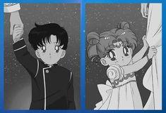 Sailor Moon kids their both sooo cute! Sailor Moon Stars, Sailor Pluto, Sailor Jupiter, Sailor Moon Crystal, Cristal Sailor Moon, Arte Sailor Moon, Sailor Moon Usagi, Sailor Mars, Sailor Mercury