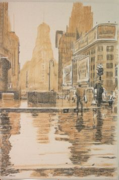 Times Square in the rain, 1943