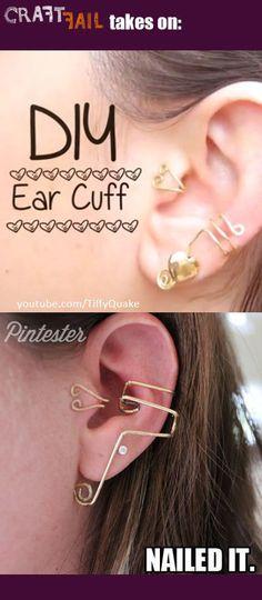 How to make a cuff earring. Diy Ear Cuff - Step 7