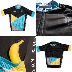 "Victory Chimp su Instagram: ""Introducing the Chimpeur Jersey. With integrated Banana Positioning Technology™ . Inspired by the climbs but suitable for all rides requiring an optimally stationed wonder fruit. Available in the shop now (link in profile). #Chimpeur #BananaPositioningTechnology #wearabletech #cyclingapparel #roadcycling"""