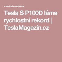 Tesla S láme rychlostní rekord Tesla S, Tesla Motors