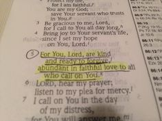 Just spoke this over my cousin :) psalm 86:5