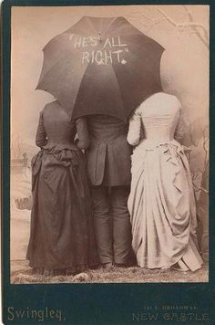 Victorian turned backwards umbrella