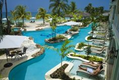 Sandals resort in Negril, Jamaica...all inclusive not our thing, but this place looks coo!