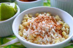 Corn with crema, chili and cheese