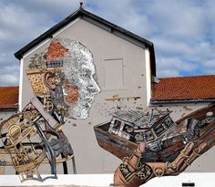 In November of last year two amazing urban artists Pixel Pancho and Vhils teamed up to create an incredible piece of street art in Lisbon (Portugal).