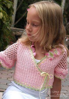 Sunlit Rose bolero crocheted