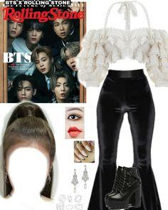 Kpop Fashion Outfits, Girl Outfits, Cute Outfits, Aesthetic Fashion, Look Fashion, Mode Kpop, Bts Inspired Outfits, Look Girl, Korean Girl Fashion