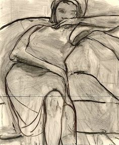 Richard Diebenkorn, 1966    charcoal on joined paper 72  × 59  cm.   The Richard Diebenkorn Foundation