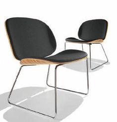 Blob Leather Lounge Chair, Parri