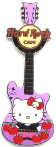 Hard Rock Cafe Osaka UCW 2011 Hello Kitty Apple Guitar Pin