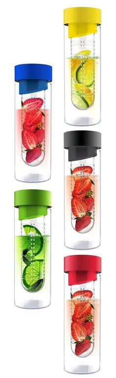 Flavour It - infusing water bottle // refreshing idea to add lime, lemon, berries, mint etc. to water #product_design