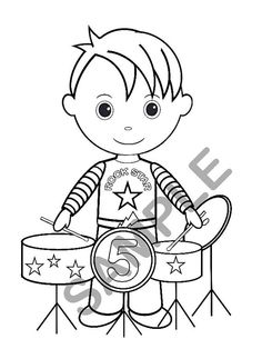 59 best shaidon s turning 3 images rock star birthday party rock 70s Party Invitations personalized printable boy rockstar birthday party favor childrens kids coloring page book activity pdf or file