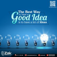 The best way to have a good idea... #ComputerScience #Olevels #Alevels #ZAKonweb