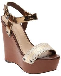 d111976cc466c Vera Wang Snake Print High Wedge - Lyst High Wedges