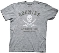 Are you proud to be a Goonie? If so, this officially licensed Goonies t-shirt will make that perfectly clear! Featuring the Goonies logo on front, this shirt is sure to please almost any fan of the fi